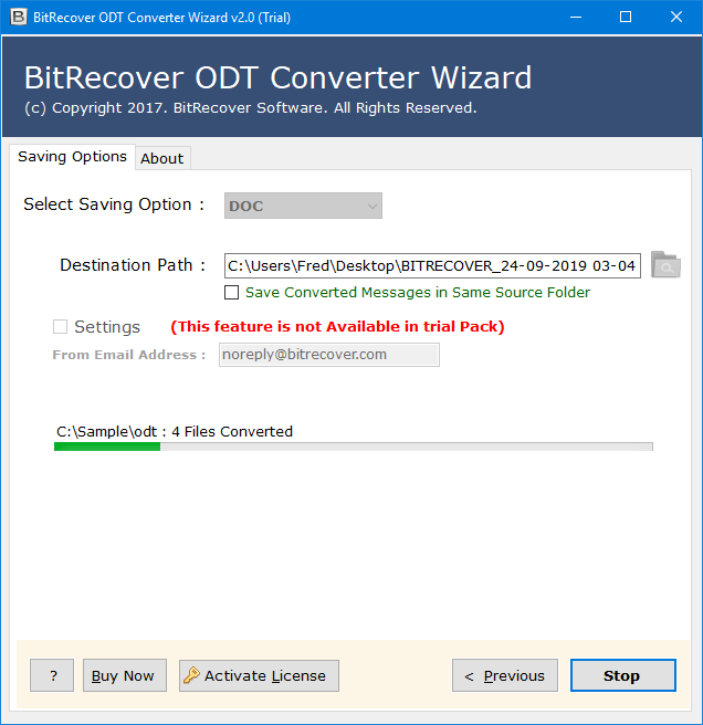 how to change a file from odt to doc