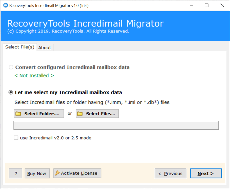 automatically load IncrediMail 2.0, 2.5 profile data