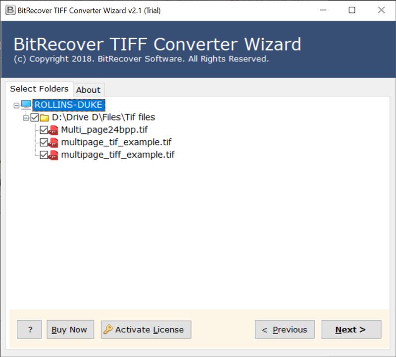 choose specific TIFF files