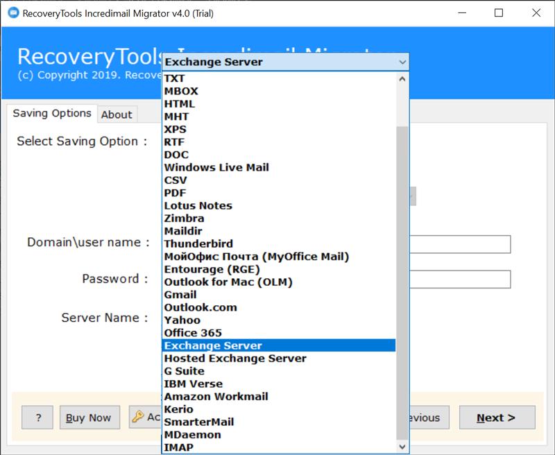 Exchange Server or Hosted Exchange Server