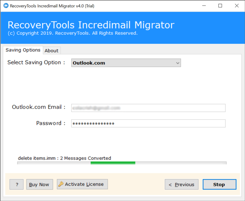 IncrediMail to Online Outlook migration