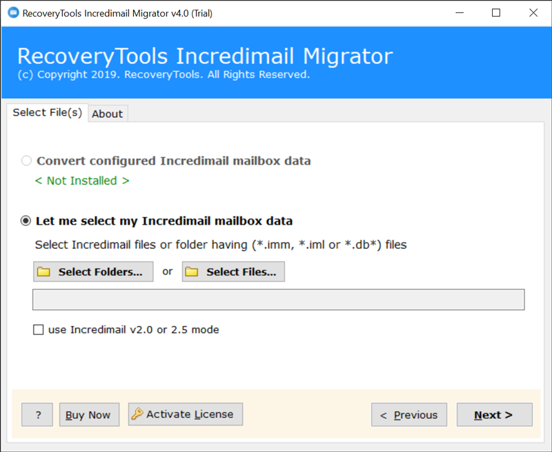 IncrediMail to Yahoo Import Tool