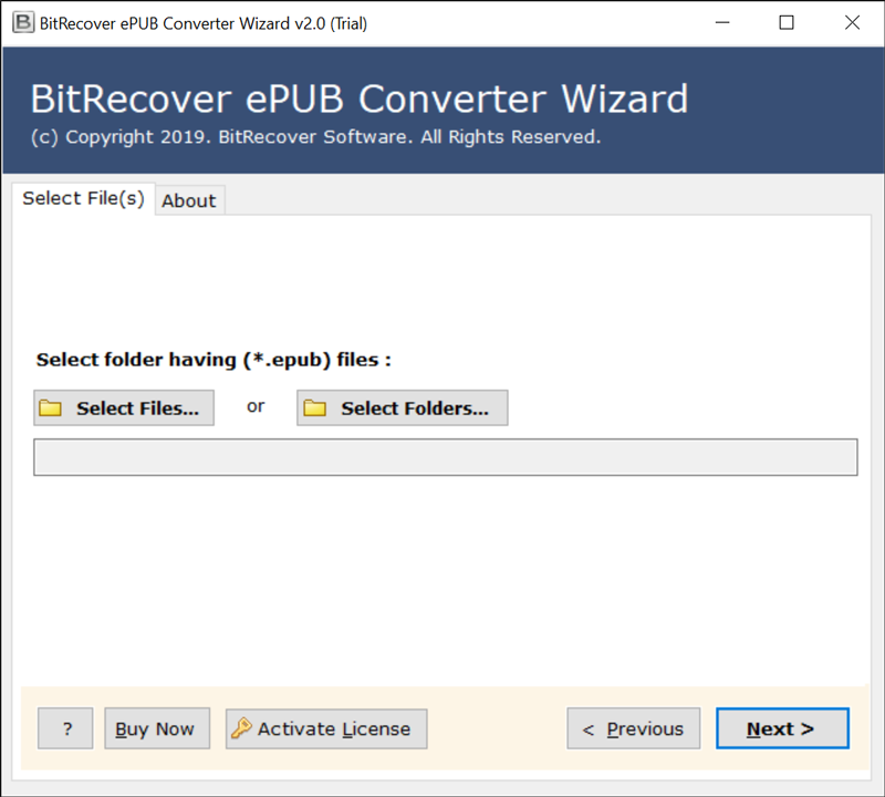 Launch eBook to MSG Converter