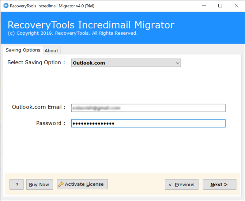 Outlook.com account credentials