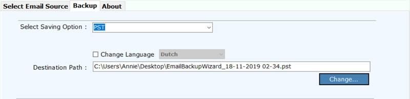 save webmail to hard drive