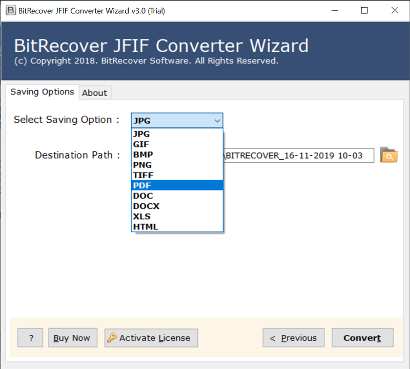how to change jfif to pdf