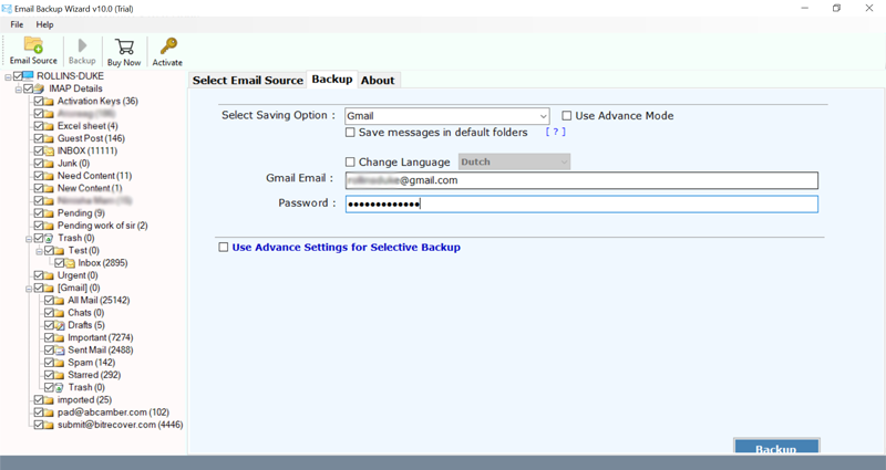 how to transfer bell email to gmail