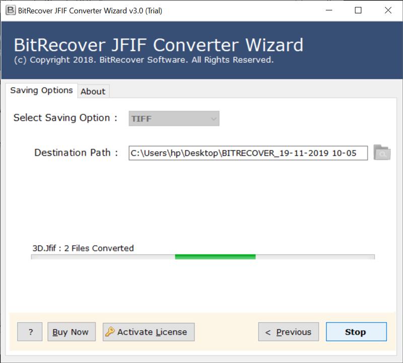 JFIF images to TIFF migration