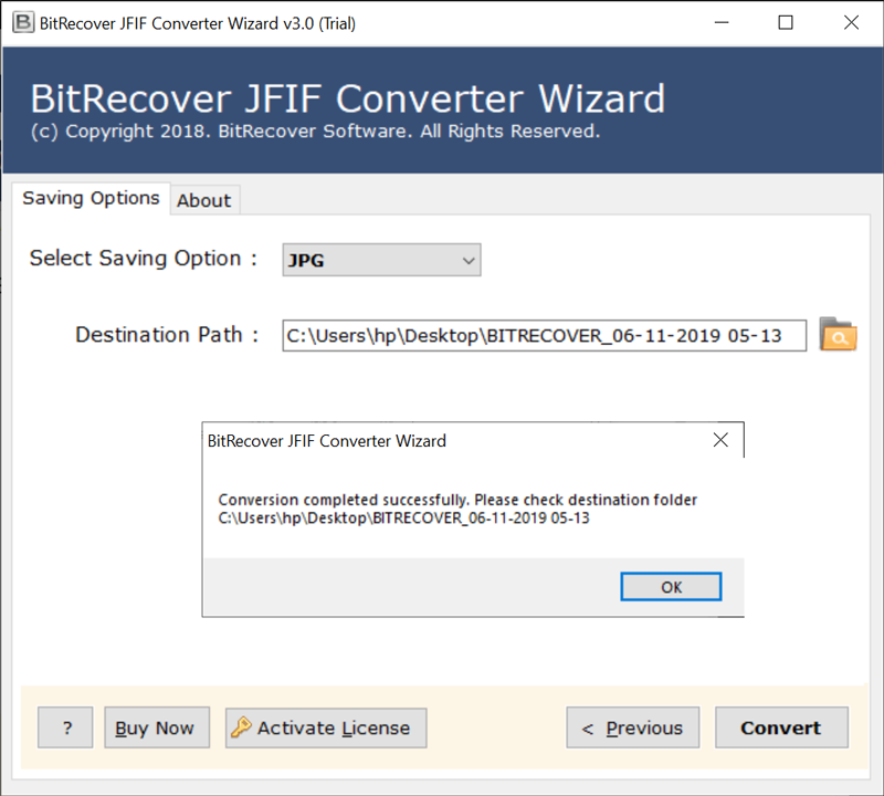 JFIF to JPEG conversion