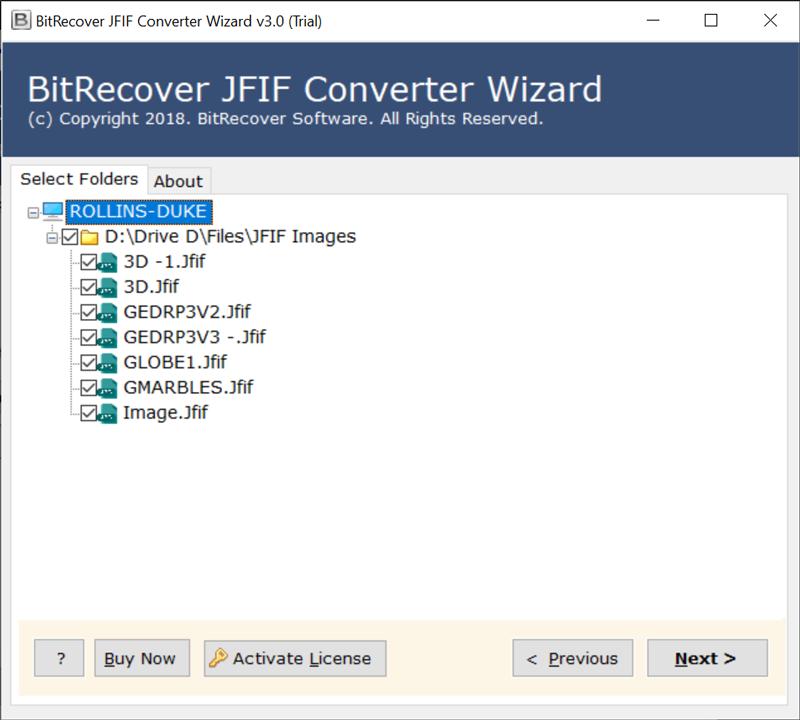 Select .jfif files