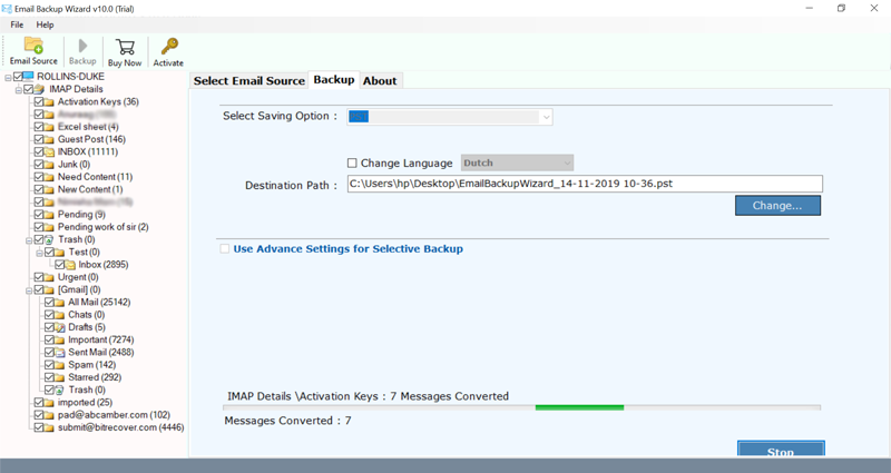 transfer bell mail to hotmail