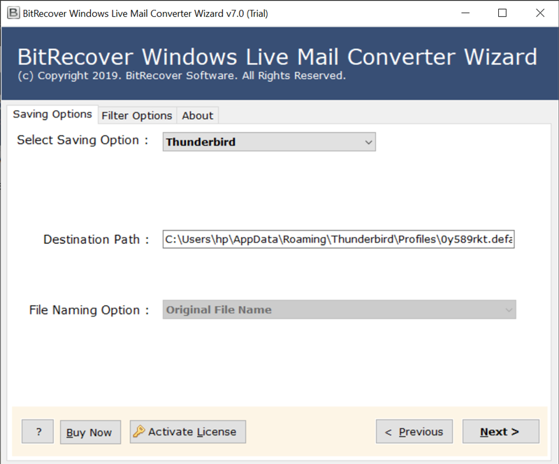 export windows live mail 2011 to thunderbird