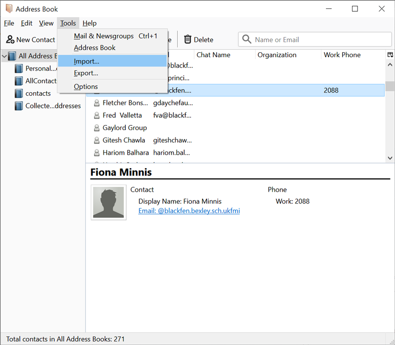 import contacts from windows live mail to thunderbird