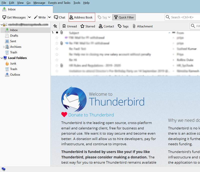 Start Mozilla Thunderbird