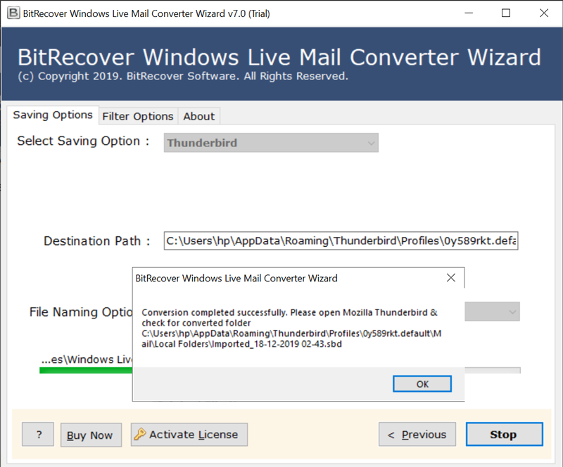 switching from windows live mail to thunderbird