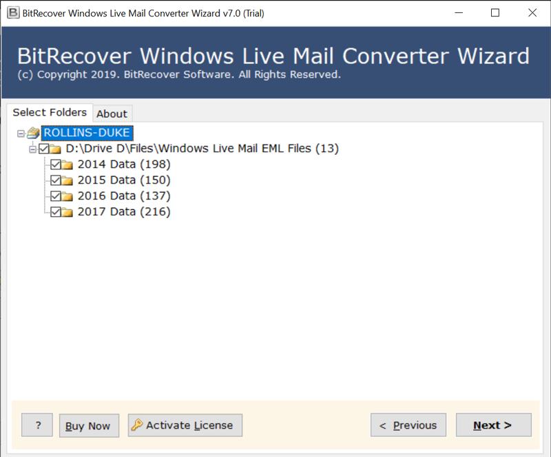 Windows Mail folders