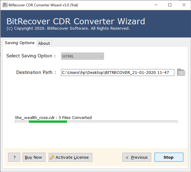 CDR to HTML conversion