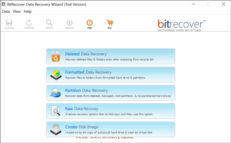 Partition Data Recovery Mode