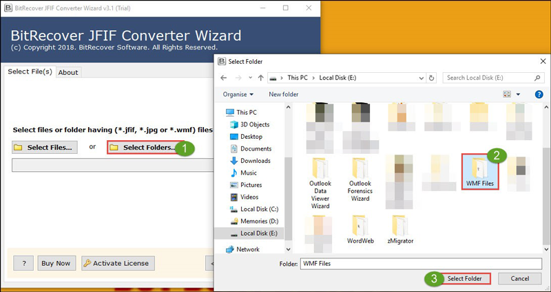 Convert Batch WMF files to JPG