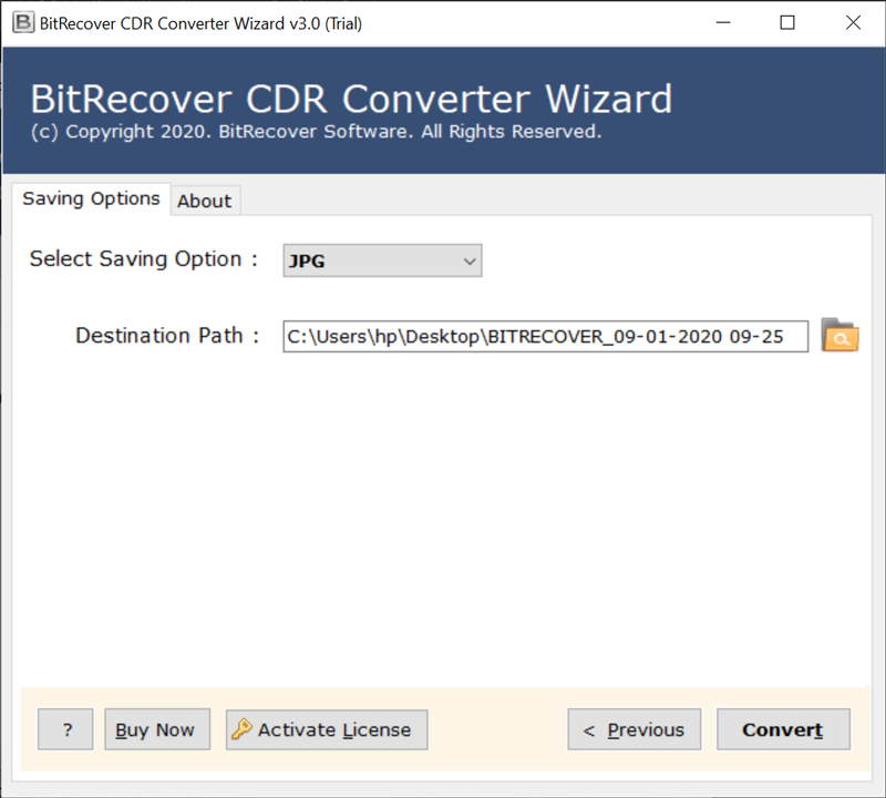 Convert CDR to Image