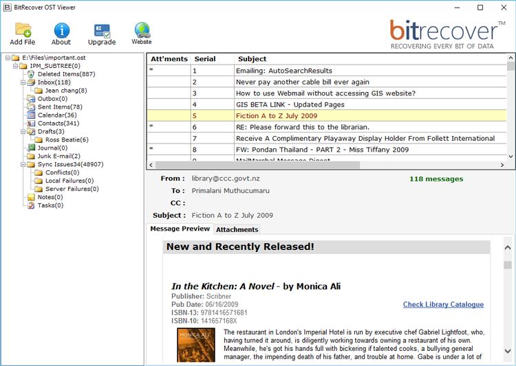 Open Outlook Data File OST