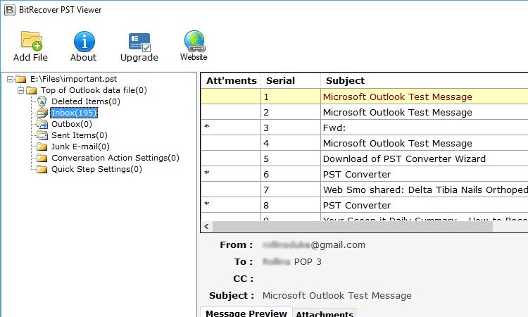 Open Outlook Data File PST
