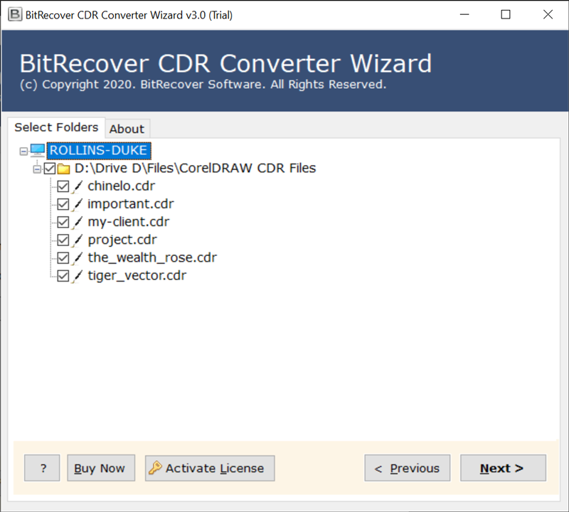 required CDR files