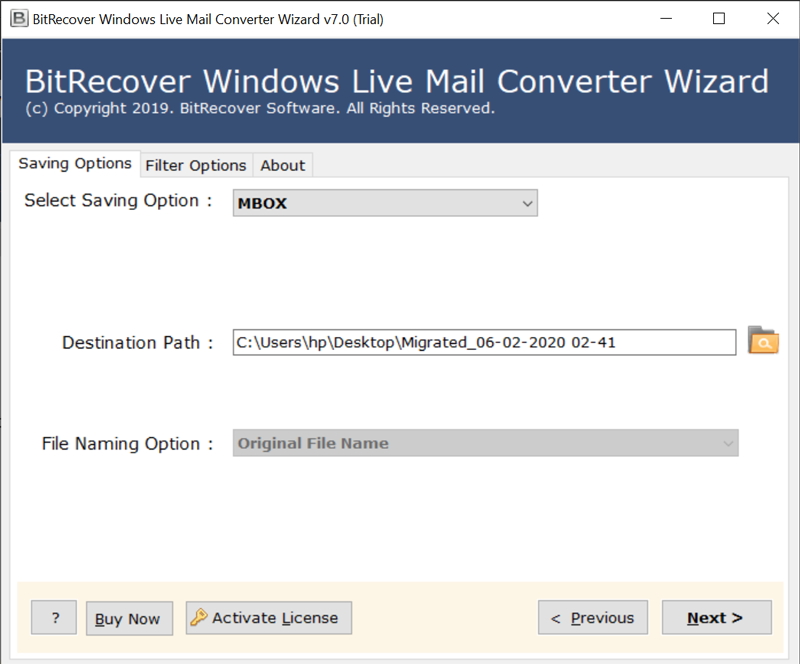 windows live mail to mbox