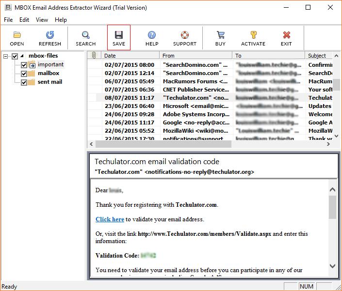 Choose specific folders