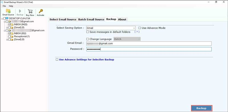 combine two Gmail accounts
