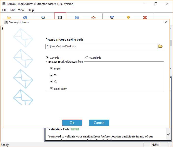 extracting Thunderbird email addresses
