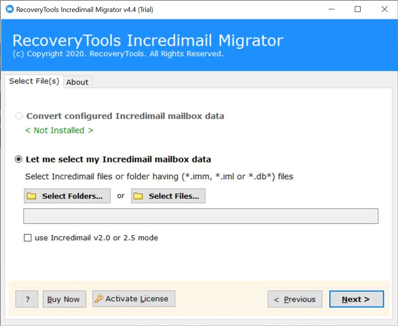 incredimail identity password recovery