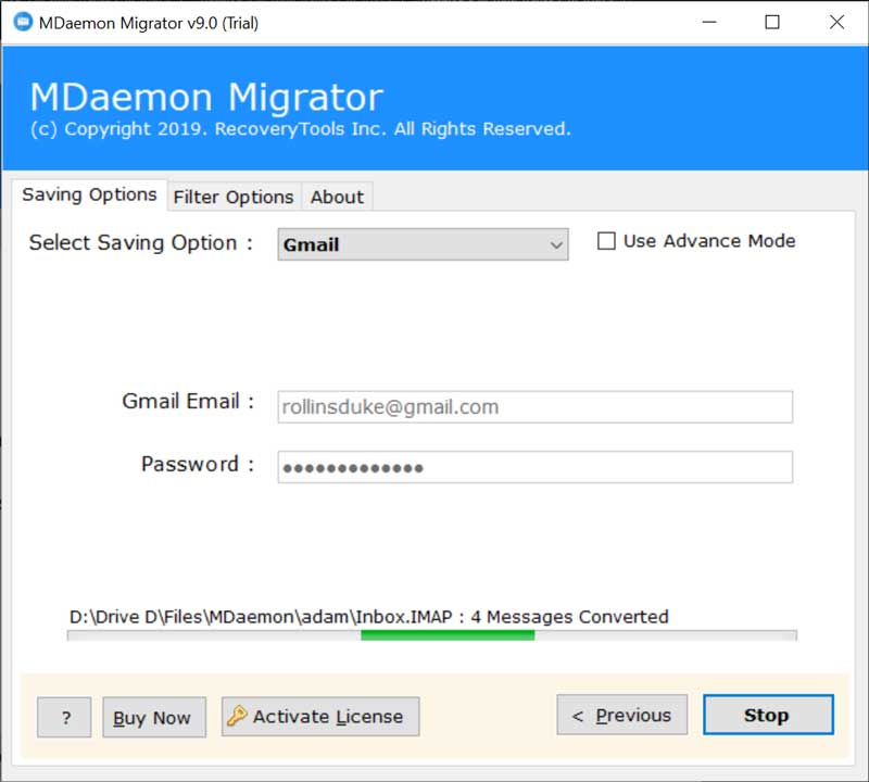MDaemon Server to Google Mail