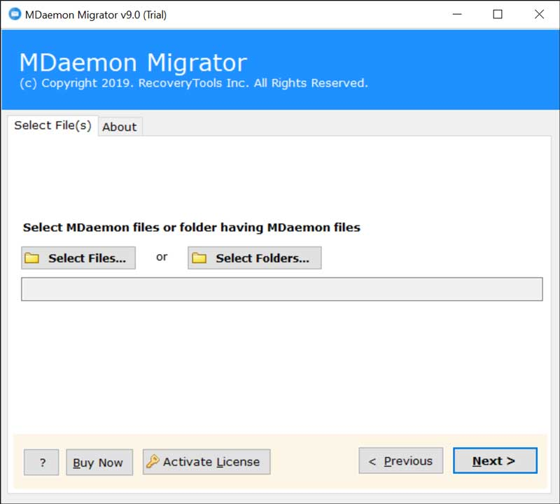 MDaemon to G Suite Backup Tool
