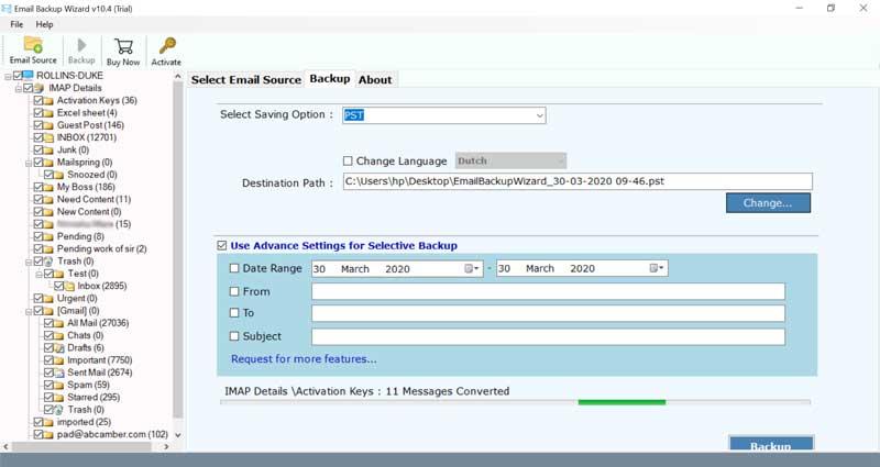 Open Xchange Backup Restore