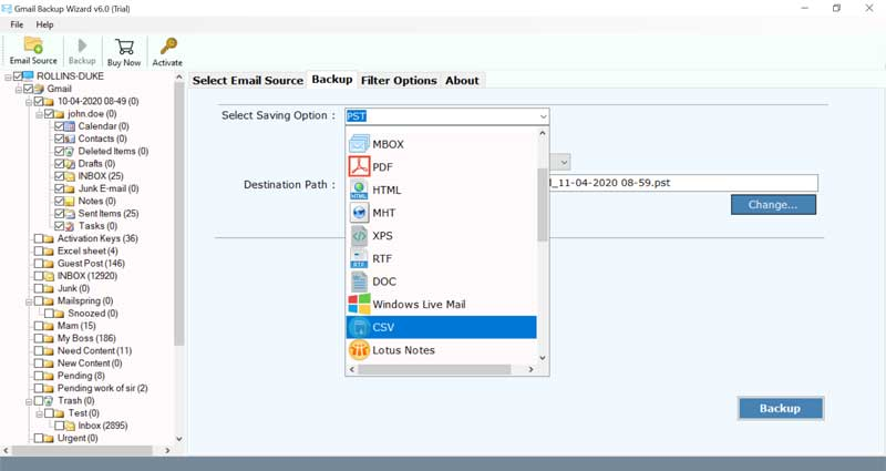 extract Gmail emails to Excel
