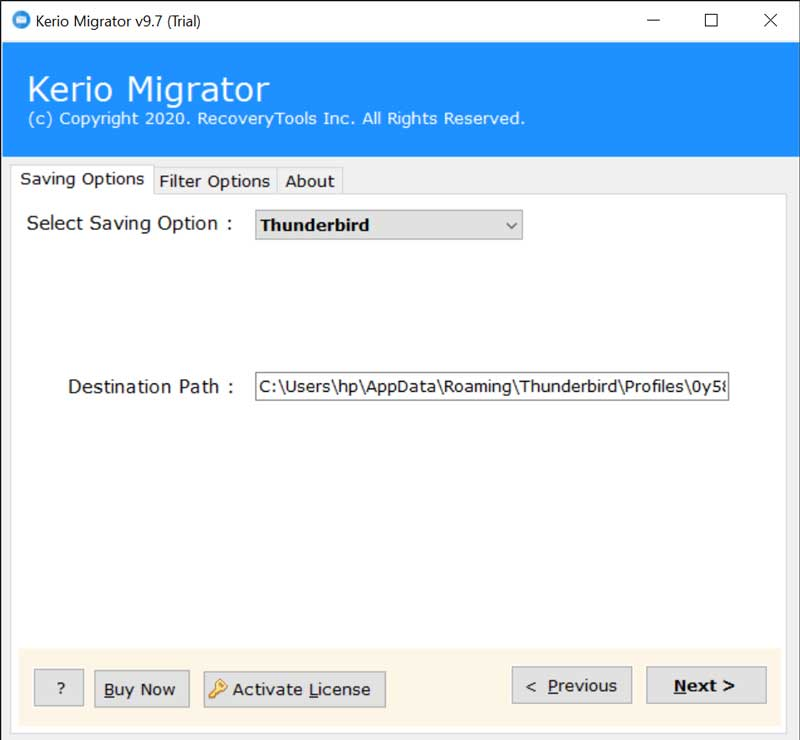 Kerio to Thunderbird Converter