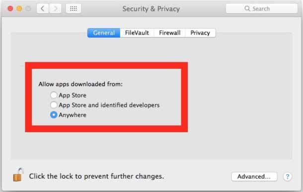 Allow Apps from Anywhere in macOS Gatekeeper (Catalina, Mojave, Sierra, High Sierra)