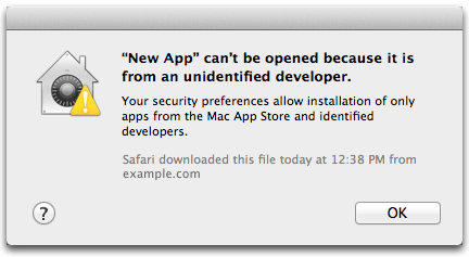 mac app can't be opened because it is from an unidentified developer