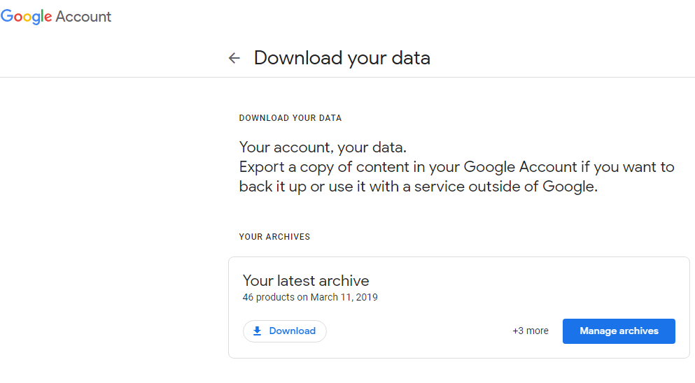 import-google-takeout-to-new-account