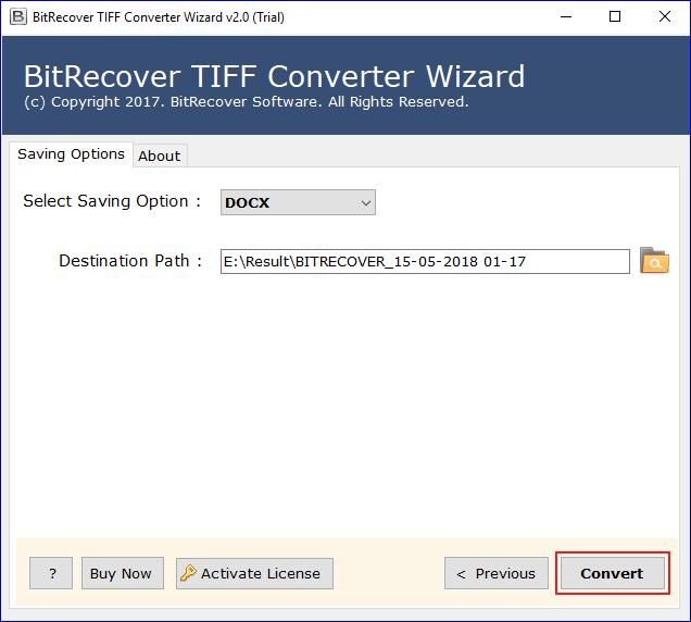 start-tiff-to-doc-conversion