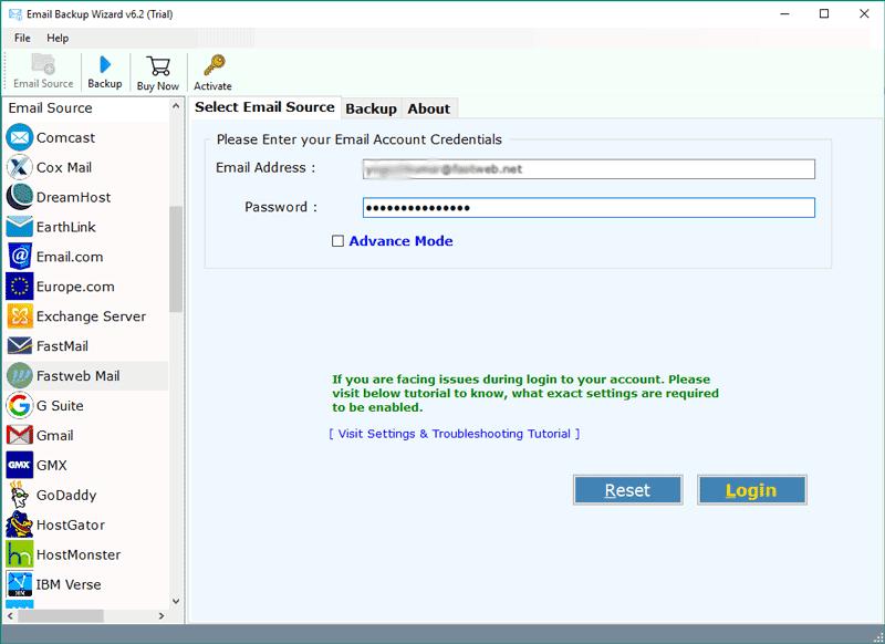 fastweb-mail-backup