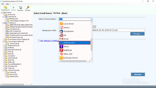 transfer emails from one Hotmail account to another