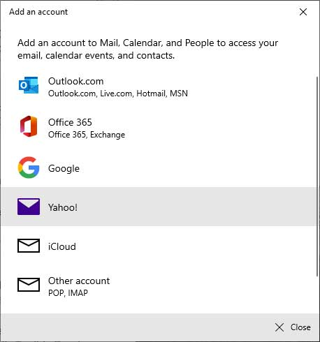 Yahoo Mail not syncing with Windows 10 Mail App