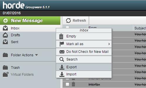 export-horde-emails