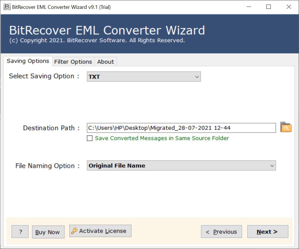 EML attachment downloader