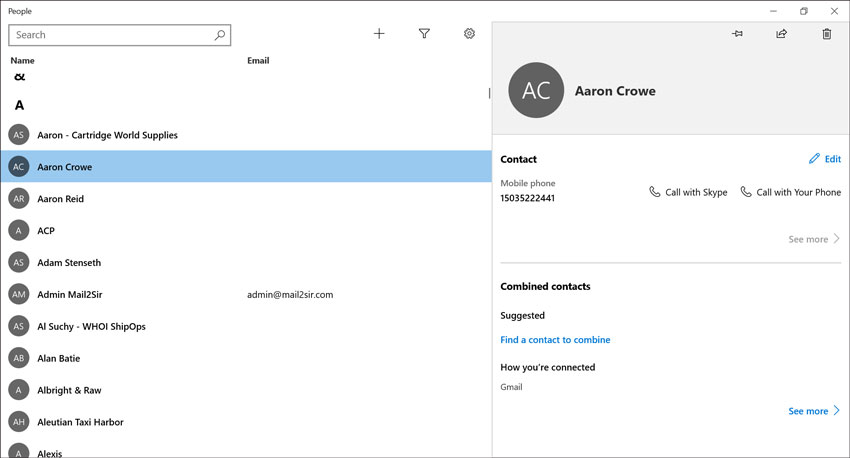 Migrate Contacts from Windows Live Mail to Windows 10 Mail App