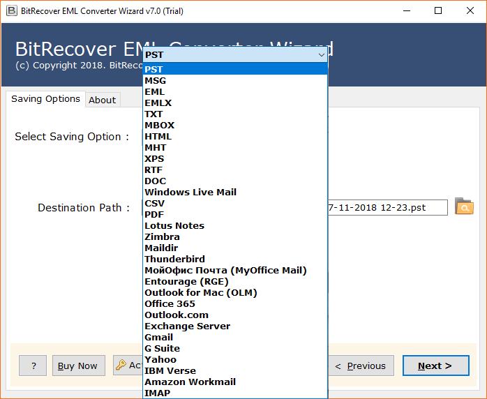 EML Converter to Batch Export EML Files in Various Formats