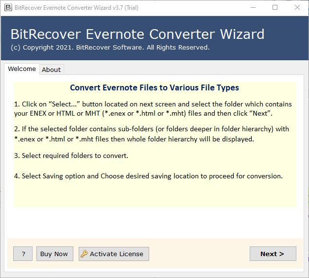 Evernote Converter  software