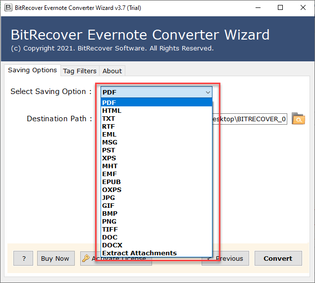 Exporting Evernote to PDF